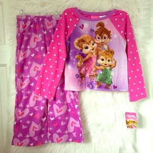 Other - NEW THE CHIPETTES Alvin Chipmunks fleece pajama XS